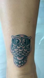 Den Tumi piercing en tattoo (91) uil owl